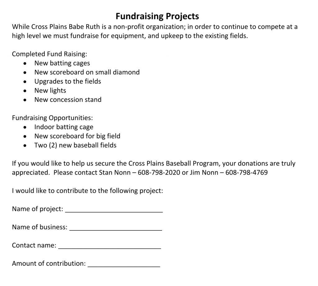 Fundraising-Projects